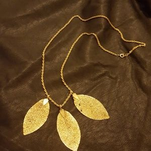 Jewelry - Three Golden Leaves Necklace